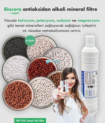 Biocera Antioksidan Alkali Su Filtresi (20 inch, giriş -çıkış 1 inch 150 ton)