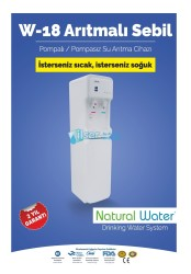 Aqua - Aqua Arıtmalı Su Sebili Pompalı Beyaz