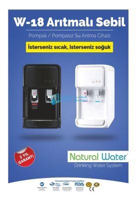 Arıtmalı Mini Su Sebili 4A-KS07 beyaz/siyah