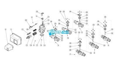 BU28610-2 2910 Tuz Pistonu 1710 - Plastik