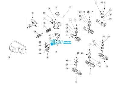 FL15237 2900-3150 375 m³ Sayaç Topu-Bronz