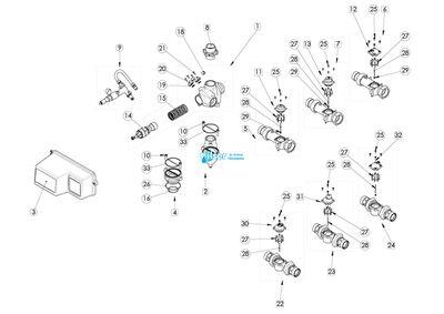 FL40391 3150-3900 Drive Motor 24V- FL28409-01