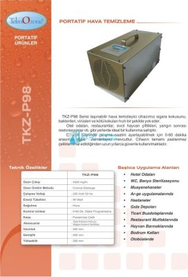 Portatif Ozon Jeneratörü TKZ-P98 Serisi
